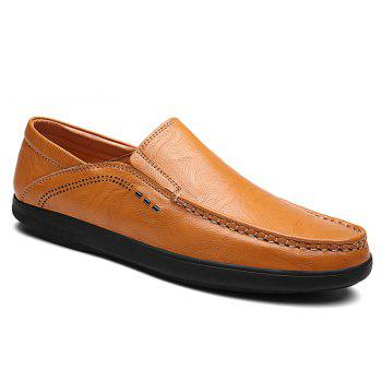 Slip On Faux Leather Casual Shoes - YELLOW 41