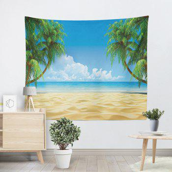 Beach Coconut Palm Print Wall Decor Tapestry - SKY BLUE W59 INCH * L59 INCH