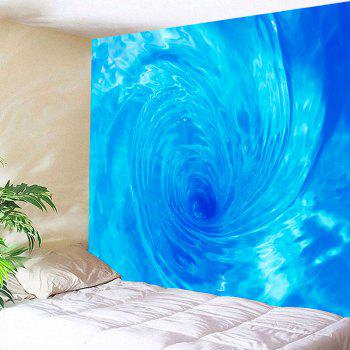 Waterproof 3D Eddy Water Printed Wall Hanging Tapestry - LIGHT BLUE W79 INCH * L79 INCH
