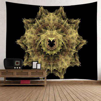 Mandala Print Tapestry Wall Hanging Decoration - BLACK W59 INCH * L59 INCH