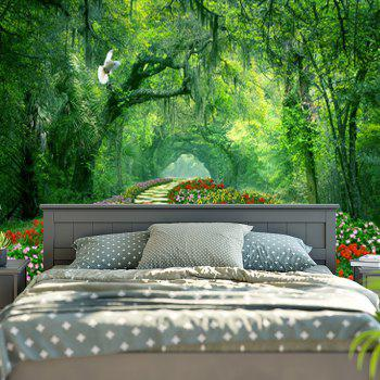 Wall Hanging Forest Path Pattern Tapestry - GREEN W79 INCH * L59 INCH