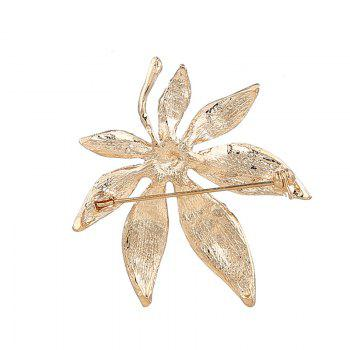 Sparkly Rhinestone Alloy Maple Leaf Brooch -  GOLDEN