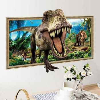 Home Decoration 3D Tyrannosaurus Print Wall Sticker - COLORMIX