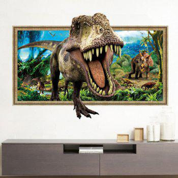 Home Decoration 3D Tyrannosaurus Print Wall Sticker - COLORMIX COLORMIX