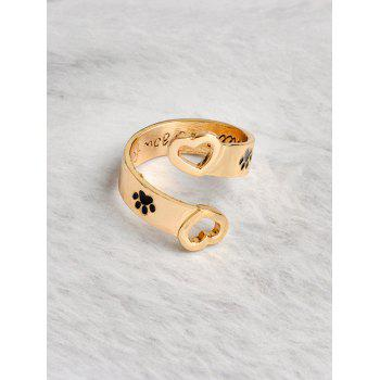 Love You Forever Claw Footprint Heart Ring -  GOLDEN