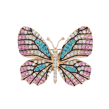 Rhinestone Sparkly Butterfly Brooch