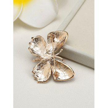 Rhinestone Sparkly Butterfly Brooch - CHAMPAGNE