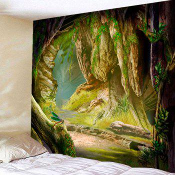 Cave Vines Patterned Wall Art Hanging Tapestry - GREEN W59 INCH * L51 INCH