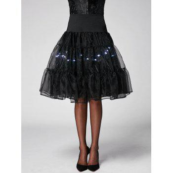 Flounce Light Up Cosplay Skirt - BRIGHT BLACK M