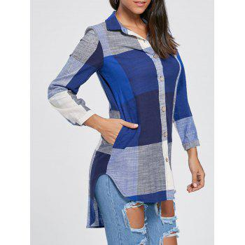 Plaid High Low Tunic Shirt