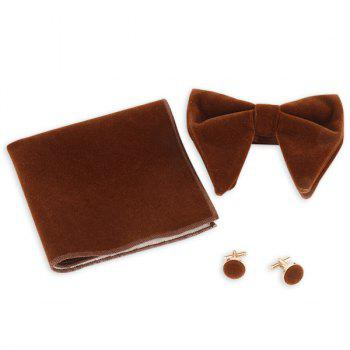 Three Pieces Bowtie Handkerchief Cufflink Set