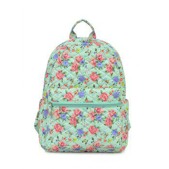Polyester Zippers Color Block Backpack