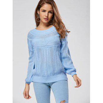 Hollow Out Cable Sweater - XL XL