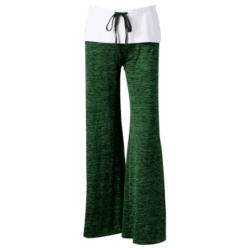 Foldover Heather Wide Leg Pants - SHAMROCK SHAMROCK