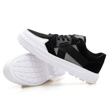 Mesh Color Block Sneakers - BLACK BLACK