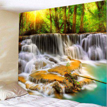 Mountain Waterfalls Printed Wall Hanging Tapestry - COLORMIX W71 INCH * L71 INCH