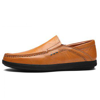 Slip On Faux Leather Casual Shoes - YELLOW YELLOW