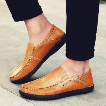 Slip On Faux Leather Casual Shoes - YELLOW 43