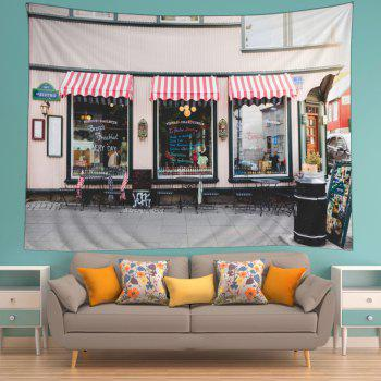 Bistro Show Window Print Tapestry Wall Hanging Art - COLORMIX W79 INCH * L59 INCH