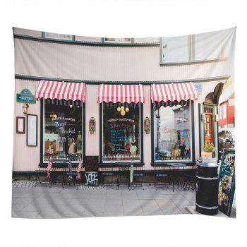 Bistro Show Window Print Tapestry Wall Hanging Art - COLORMIX W59 INCH * L51 INCH