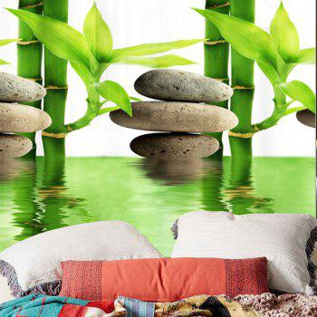 Wall Hanging Bamboo Forest Pool Tapis imprimé - GREEN W59 INCH * L59 INCH