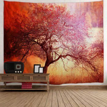Branchy Tree Print Tapestry Wall Hanging Art - Saumon W71 INCH * L79 INCH