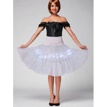Flounce Light Up jupe de cosplay - Gris Clair XL