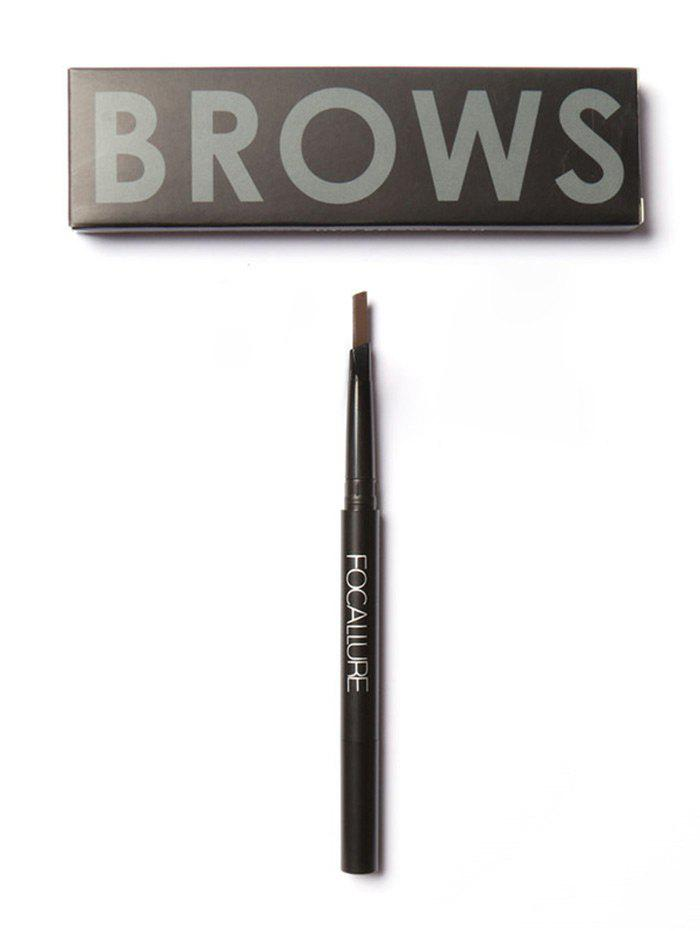 Two-Headed Waterproof Auto Brows Pencil With Brush - BROWN