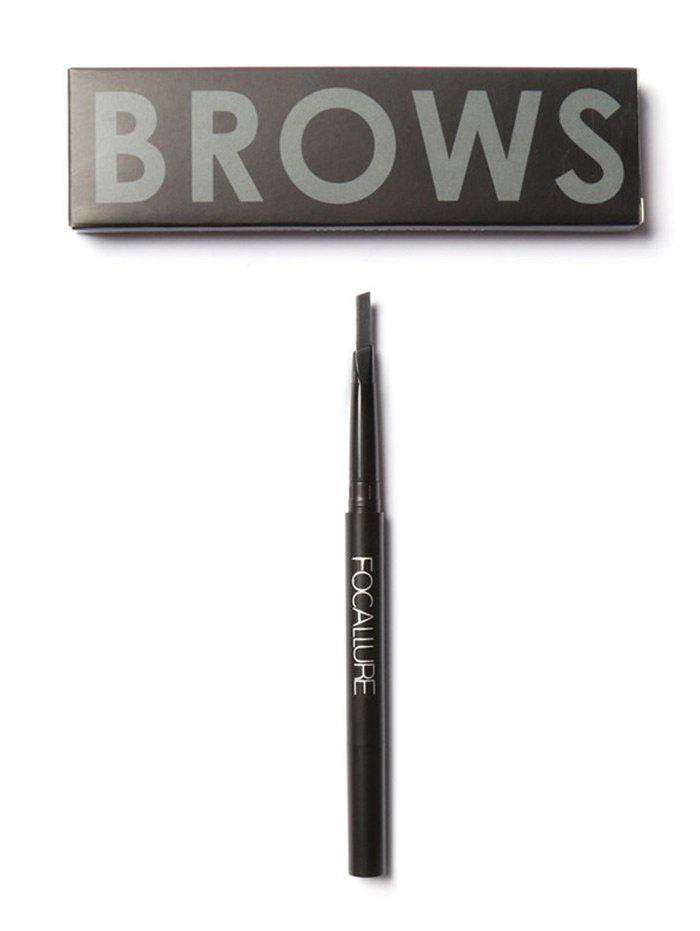 Two-Headed Waterproof Auto Brows Pencil With Brush - BLACK