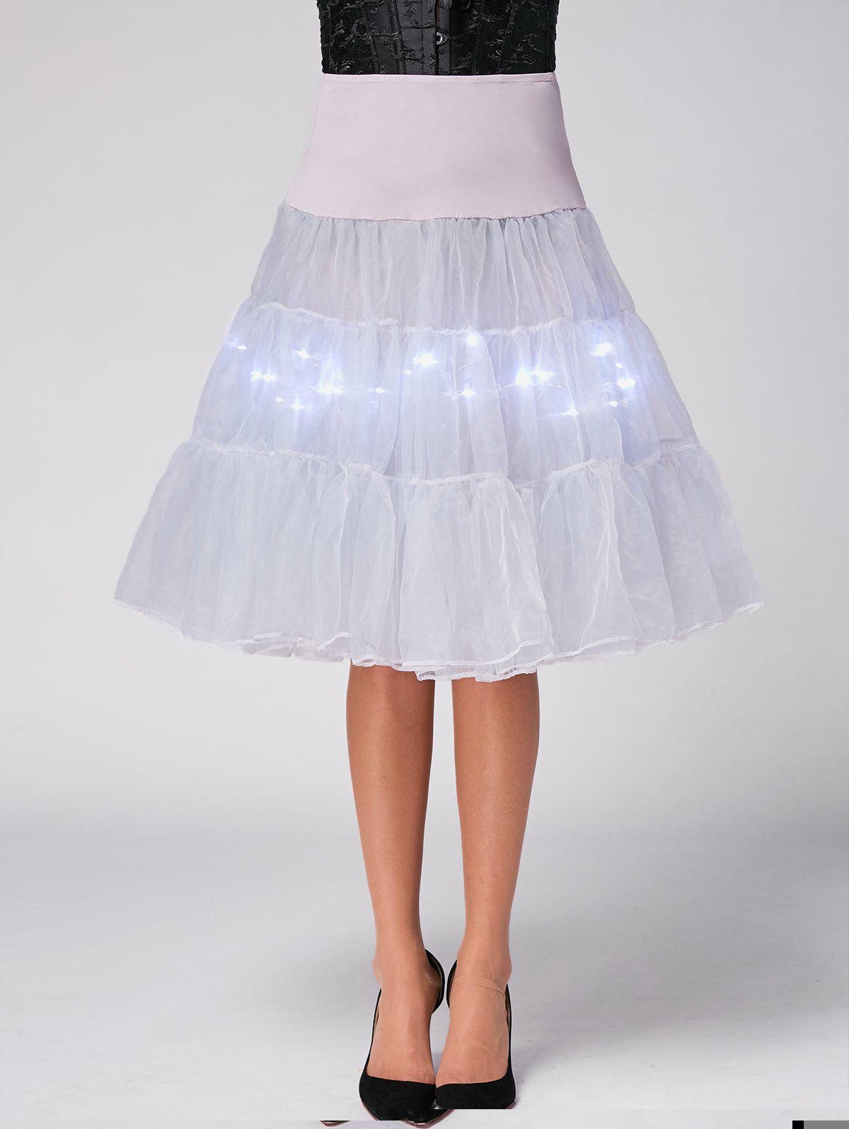 Flounce Light Up Cosplay Jupe - Gris Clair M