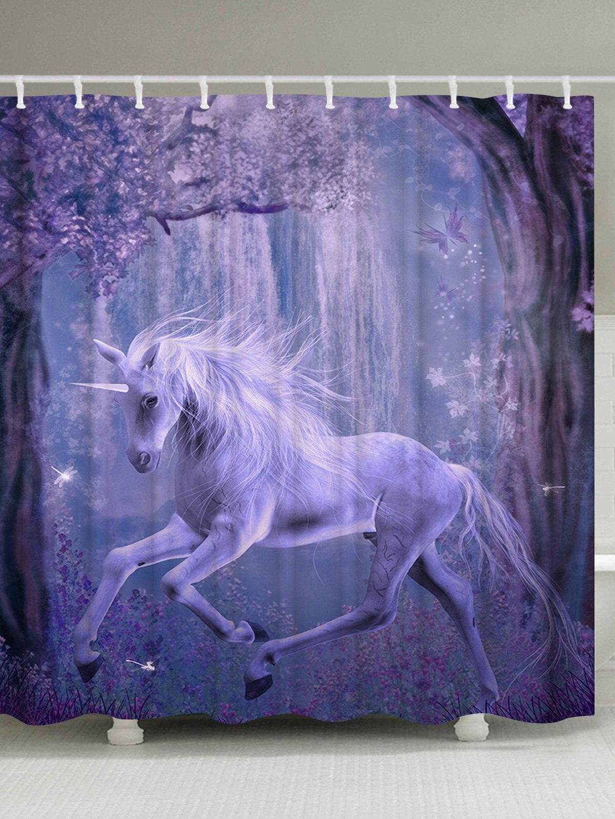 Unicorn Fairyland Shower Curtain Bathroom Decor fenix веселые истории