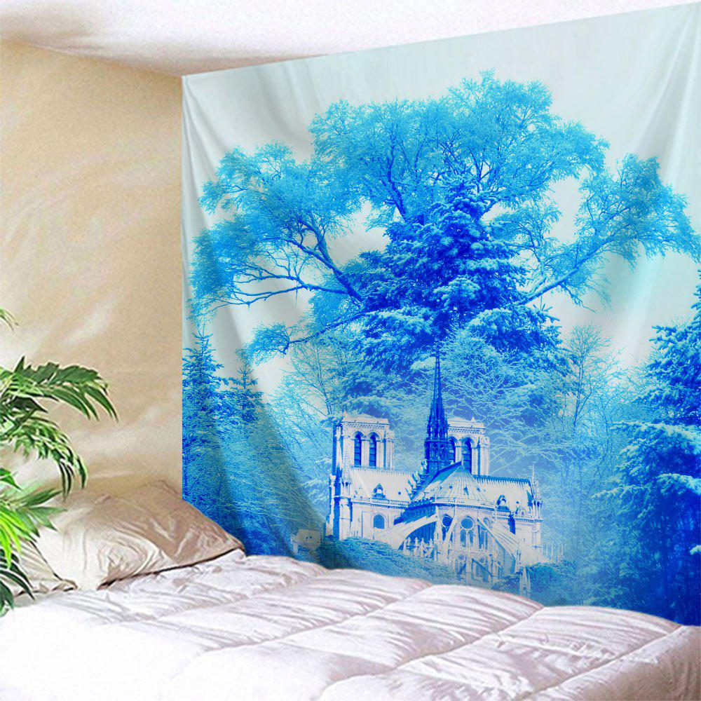 Dreamlike Forest Castle Wall Hanging Tapestry - AZURE W51 INCH * L59 INCH
