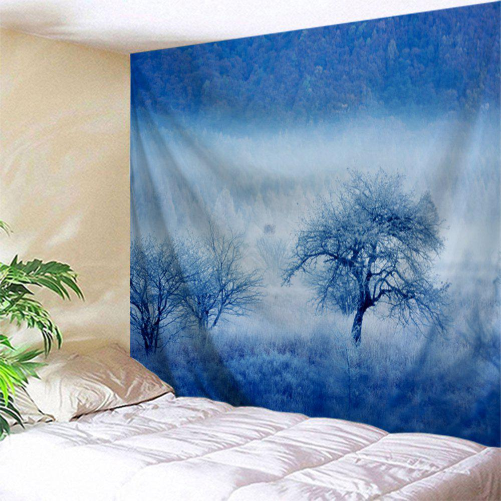 Fog Forest Trees Print Tapestry Wall Hanging Art wall hanging art decor trees print tapestry