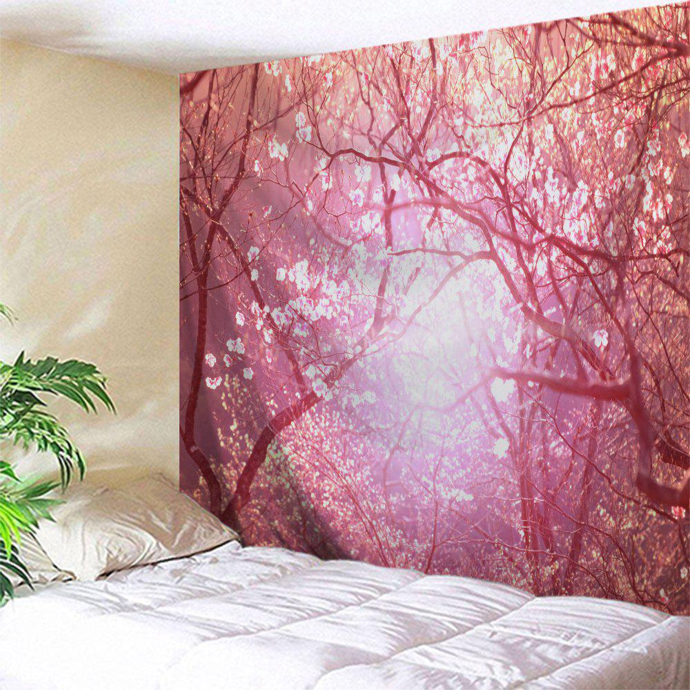 Blossom Scenic Wall Art Decoration Tapestry - PINK W71 INCH * L79 INCH