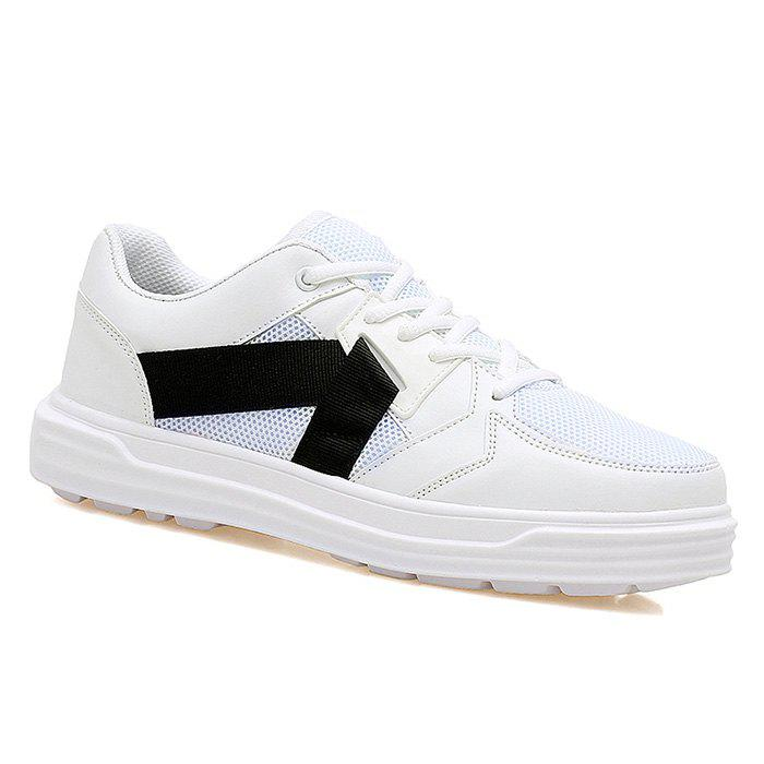 Mesh Color Block Sneakers - WHITE 43