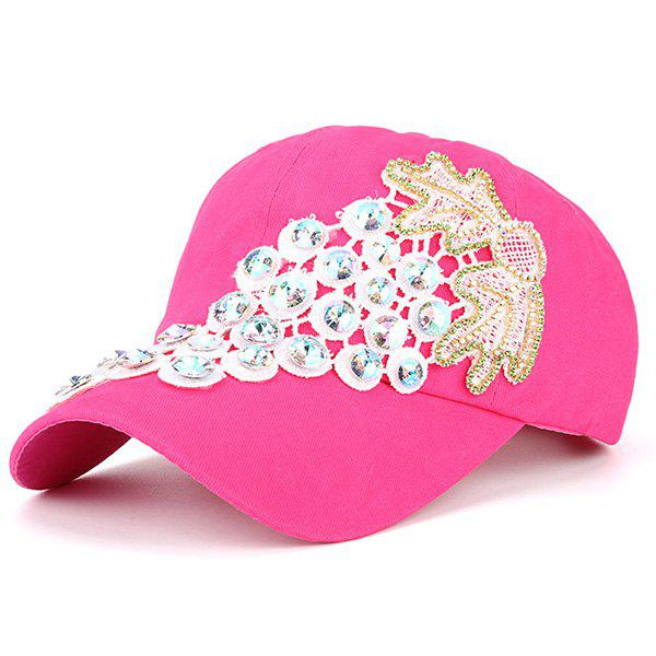 Grape Patchwork Rhinestone Baseball Cap - TUTTI FRUTTI