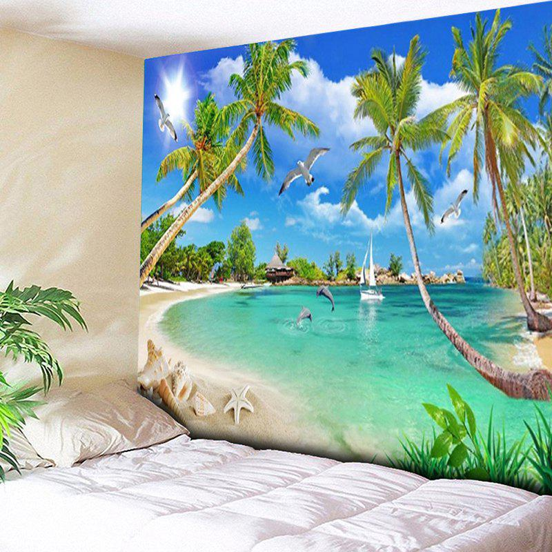 Coconut Palm Island Scenery Wall Hanging Tapestry coconut cowboy