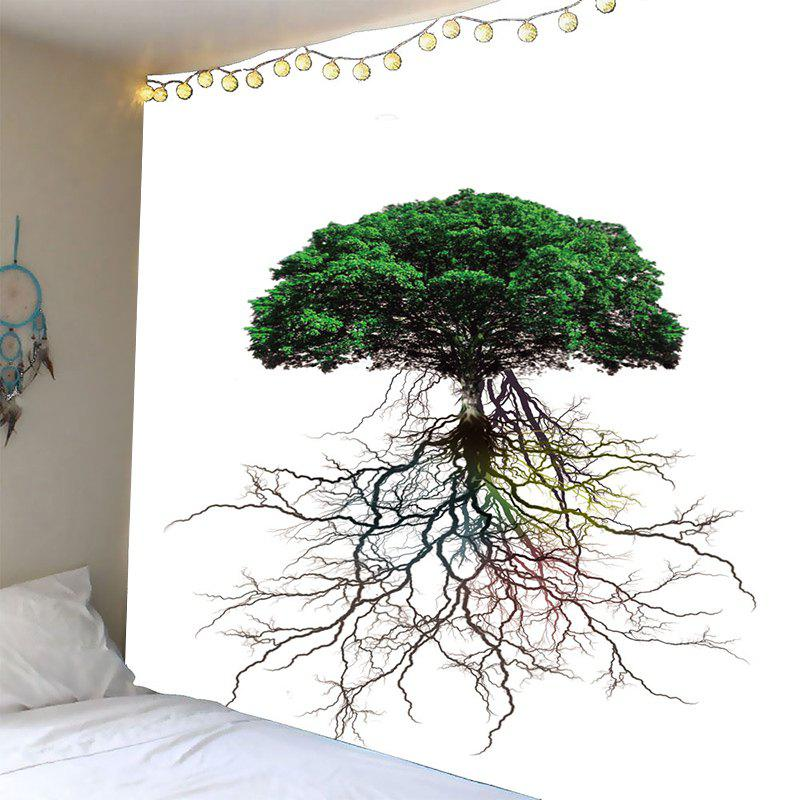 Waterproof Tree Roots Pattern Wall Hanging Tapestry - GREEN W79 INCH * L59 INCH