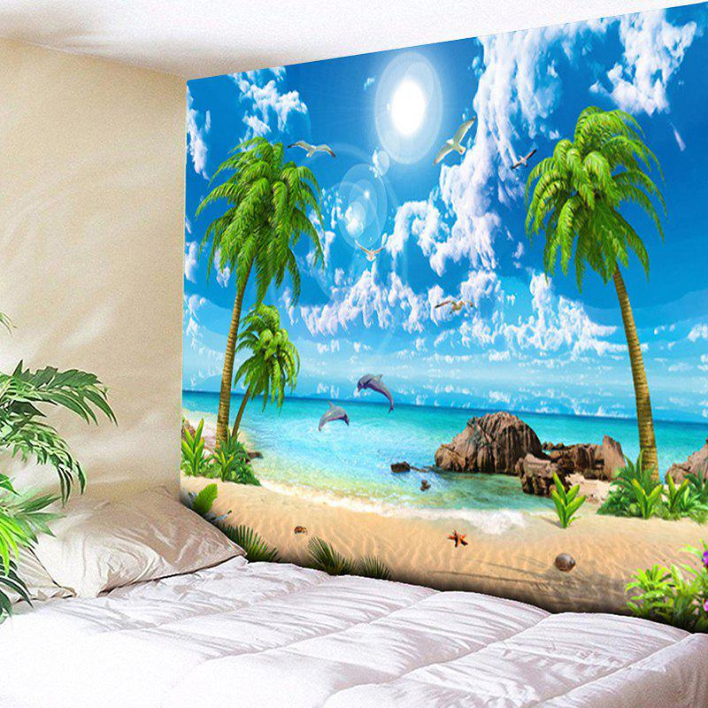 Coconut Tree Island Scenery Print Wall Tapestry колье honey jewelry колье цветок