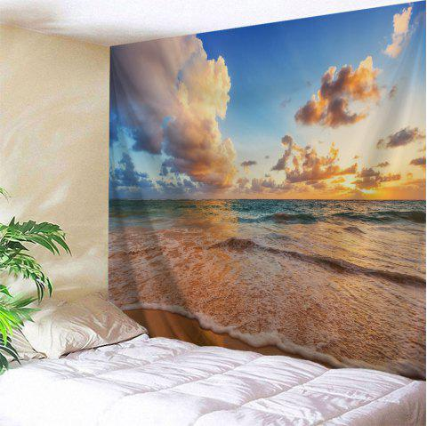 Beach View Print Tapestry Wall Hanging Art - COLORMIX W71 INCH * L79 INCH