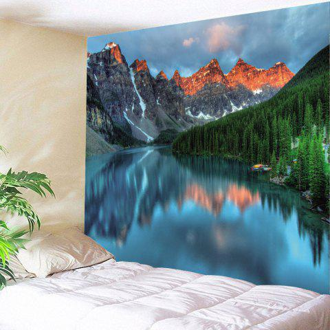 Lake Mountain Printed Wall Tapestry - COLORMIX W79 INCH * L59 INCH