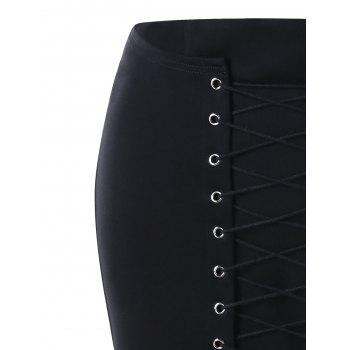 Lace Up Bodycon Skirt - 2XL 2XL