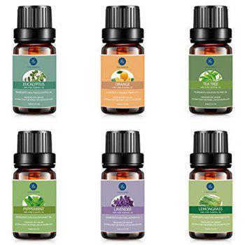 6Pcs Premium Therapeutic Natural Aromatherapy Oil Oil Set - Noir