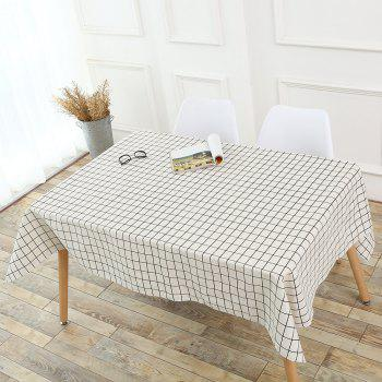Plaids Patterned Kitchen Decor Table Cloth - WHITE W55 INCH * L78 INCH