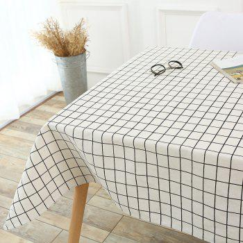 Plaids Patterned Kitchen Decor Table Cloth - WHITE WHITE