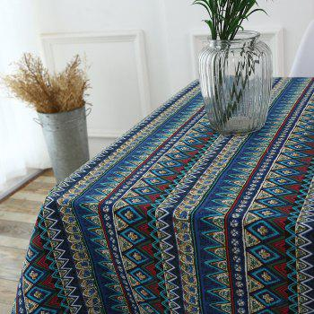 Bohemia Zigzag Printed Kitchen Decor Tablecloth - W55 INCH * L55 INCH W55 INCH * L55 INCH