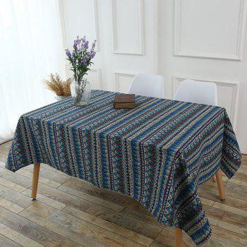 Bohemia Zigzag Printed Kitchen Decor Tablecloth - COLORFUL W55 INCH * L55 INCH