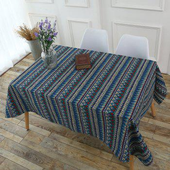 Bohemia Zigzag Printed Kitchen Decor Tablecloth - COLORFUL W55 INCH * L78 INCH