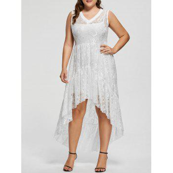 Lace High Low Plus Size Party  Dress