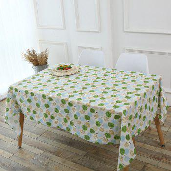 Trees Pattern Kitchen Decor Tablecloth